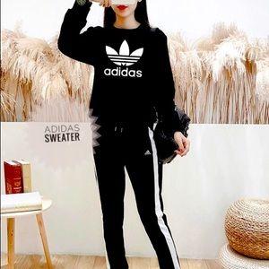 🖤LOGO SWEATSHIRT BLACK adidas (S)